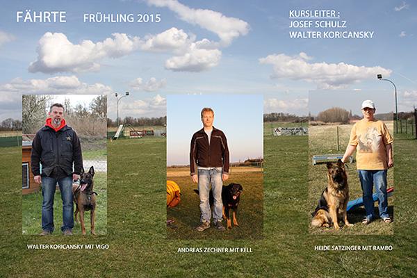 Hundeschule Rabensburg - Kursteilnehmer Fährte